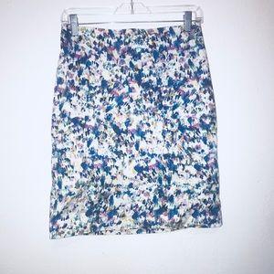 Ann Taylor Multicolor Petite Pencil Skirt